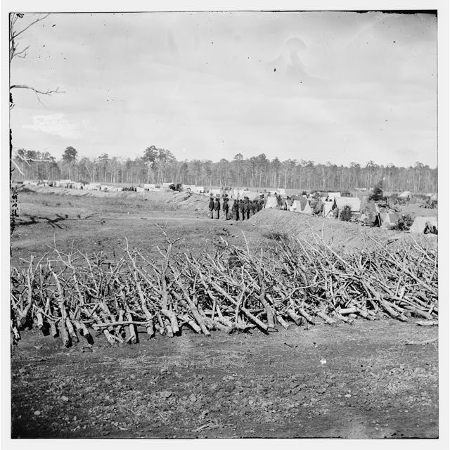 James River, Virginia. Fortifications to the right, Fort Brady