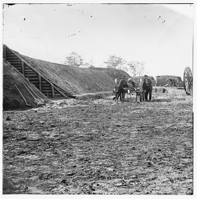 James River, Virginia. Interior view of Ft. Brady