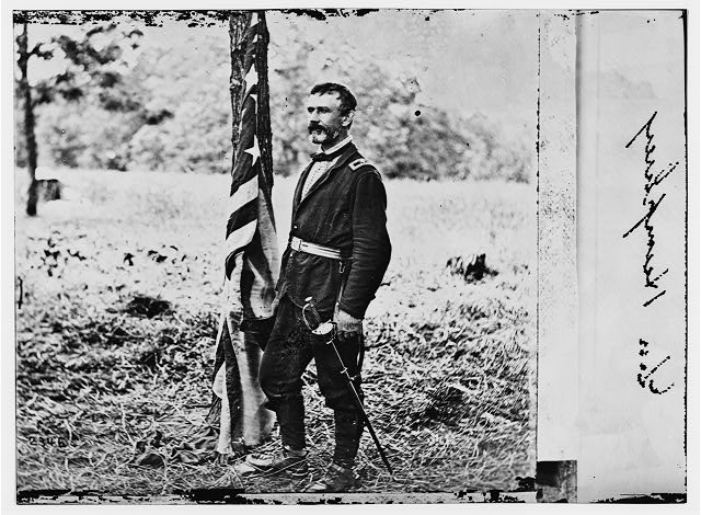 Chickahominy River, Virginia. Gen. Andrew A. Humphrey in the field