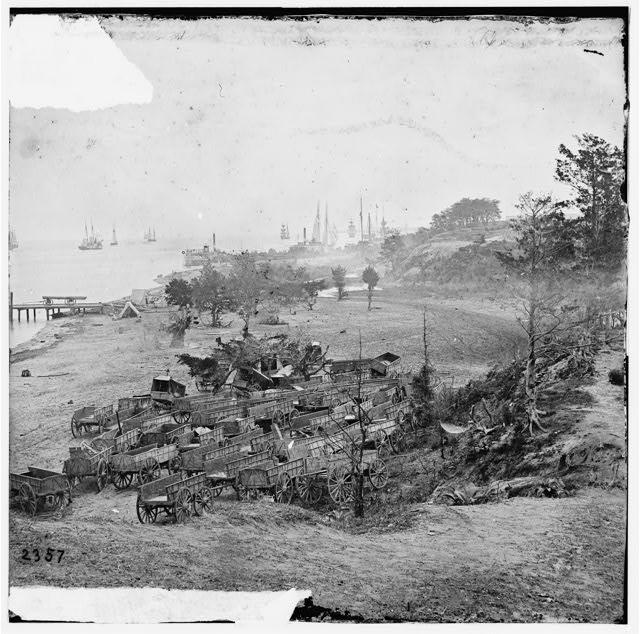 [Yorktown, Va. Federal wagon park]