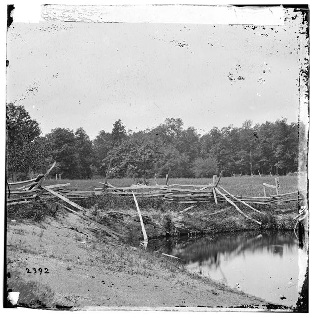 Gettysburg, Pennsylvania. McPherson's woods on left of the Chambersburg Pike