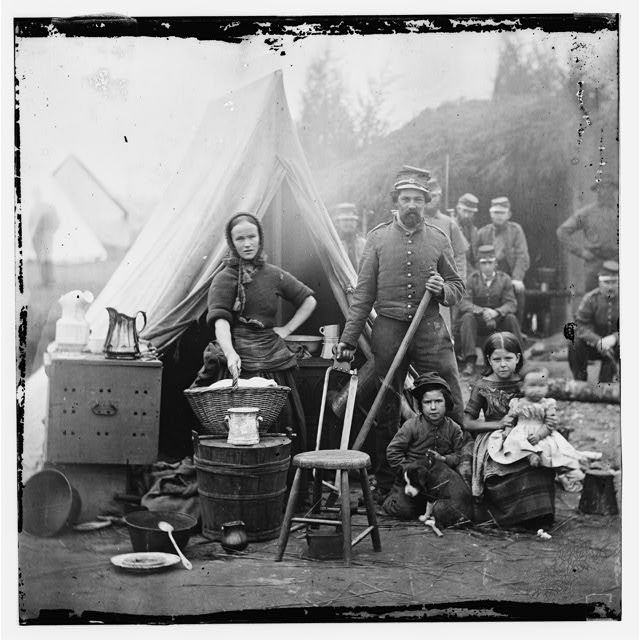 Washington, District of Columbia. Tent life of the 31st Penn. Inf. (later, 82d Penn. Inf.) at Queen's farm, vicinity of Fort Slocum