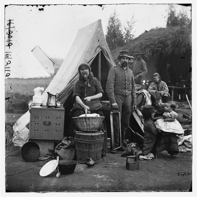 Washington, District of Columbia. Tent life of the 31st Penn. Inf. (later, 82d Penn. Inf.) at Queen&#39;s farm, vicinity of Fort Slocum