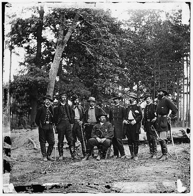 Cold Harbor, Virginia. Gen. W.F. Smith & staff