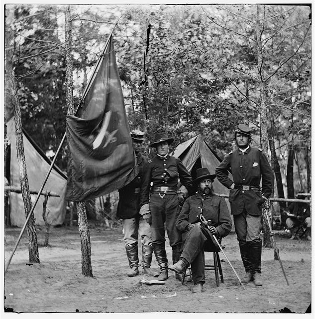 [Petersburg, Va. Gen. Orlando B. Willcox and staff, 3d Division, 9th Corps]