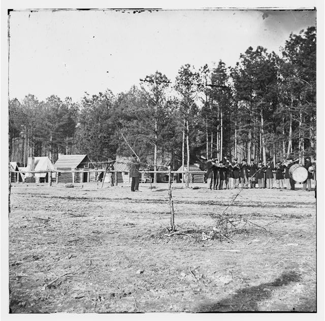 Chapin's Farm, Virginia. Gen. Godfrey Weitzel's headquarters and band of the 18th Corps
