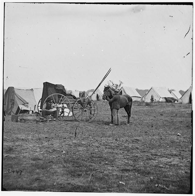 [Cold Harbor, Va. Photographer's wagon and tent]