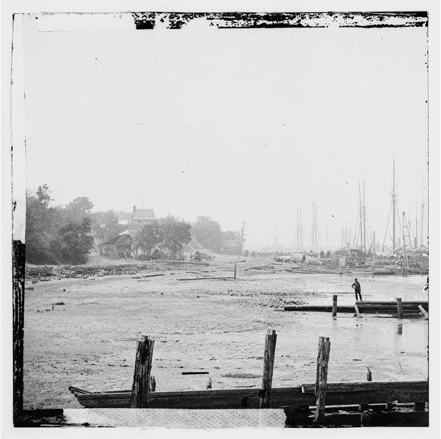 City Point, Virginia. Distance view of wharf and transports