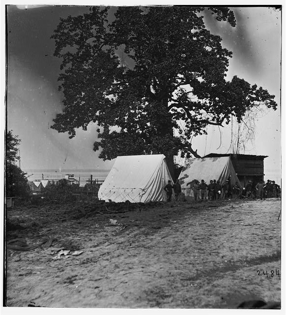 Belle Plain Landing, Virginia. View of the tents of the Sanitary Commission