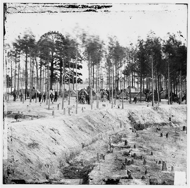 Petersburg, Virginia (vicinity). Camp of 27th U.S. Colored Infantry