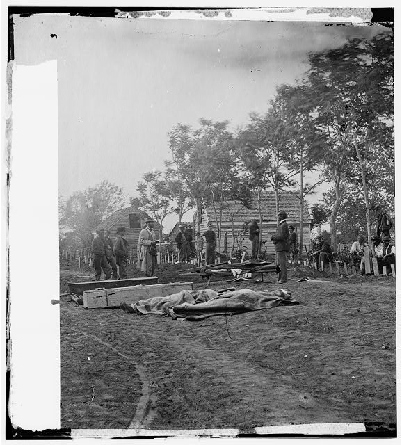 Fredericksburg, Virginia. Burial of Federal dead