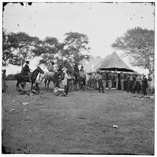 [Fredericksburg, Va. Soldiers filling canteens]