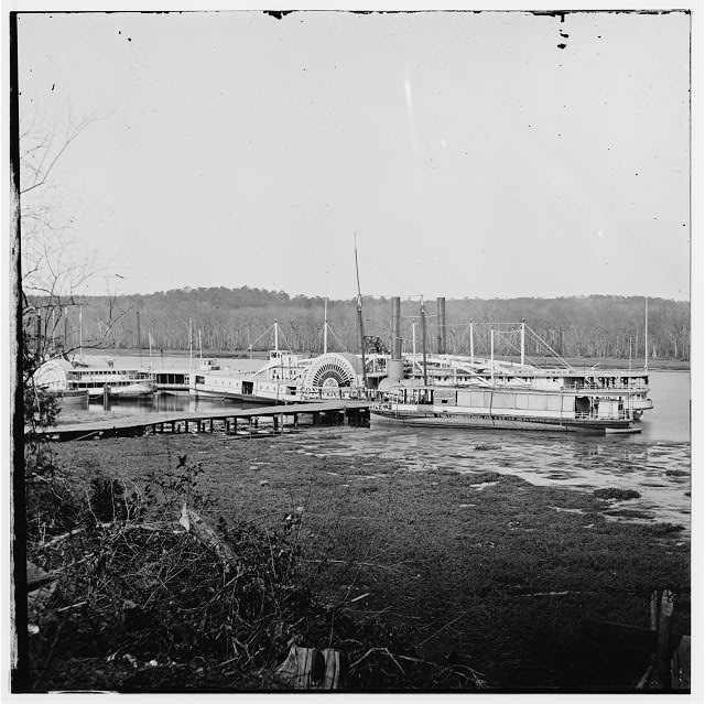 Appomattox River, Virginia. Medical supply boat CONNECTICUT
