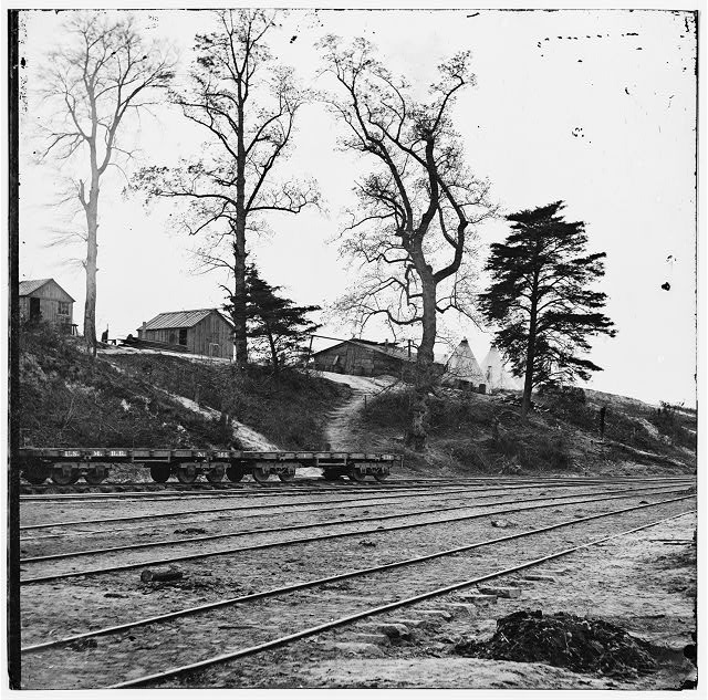 City Point, Virginia. Military railroad
