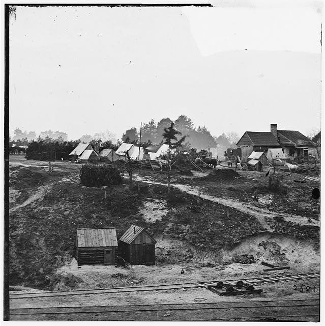 City Point, Virginia (vicinity). Cavalry camp