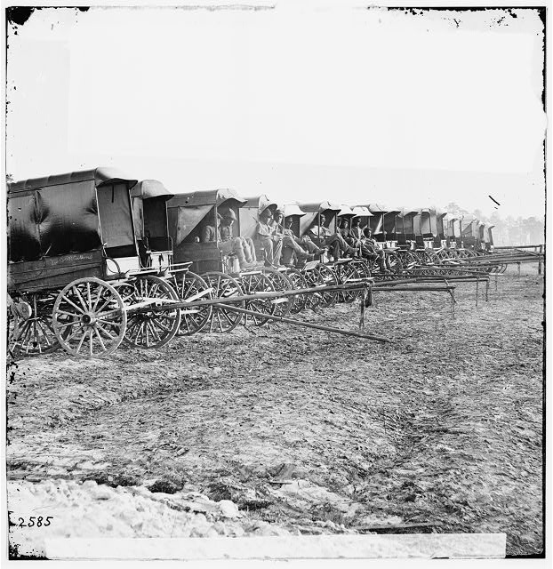 [Virginia, City Point. Park of Army Wagons]