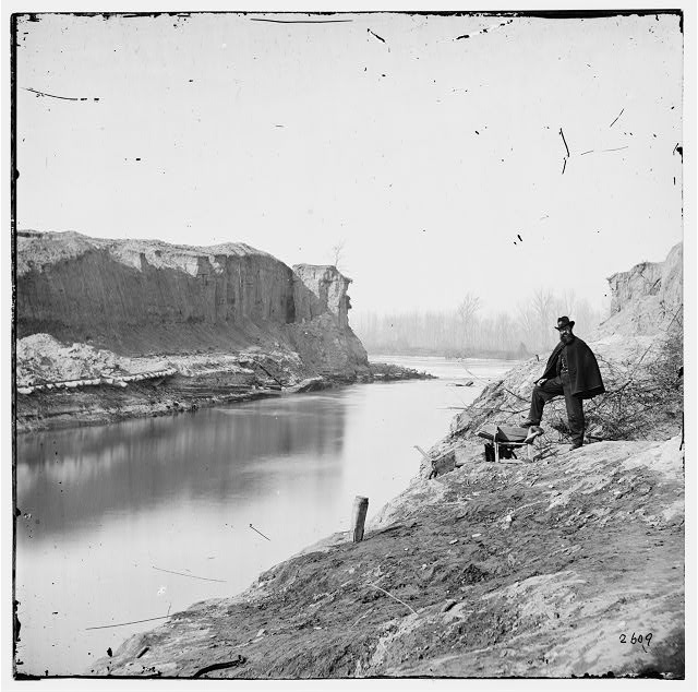 Dutch Gap, Virginia. View of completed canal