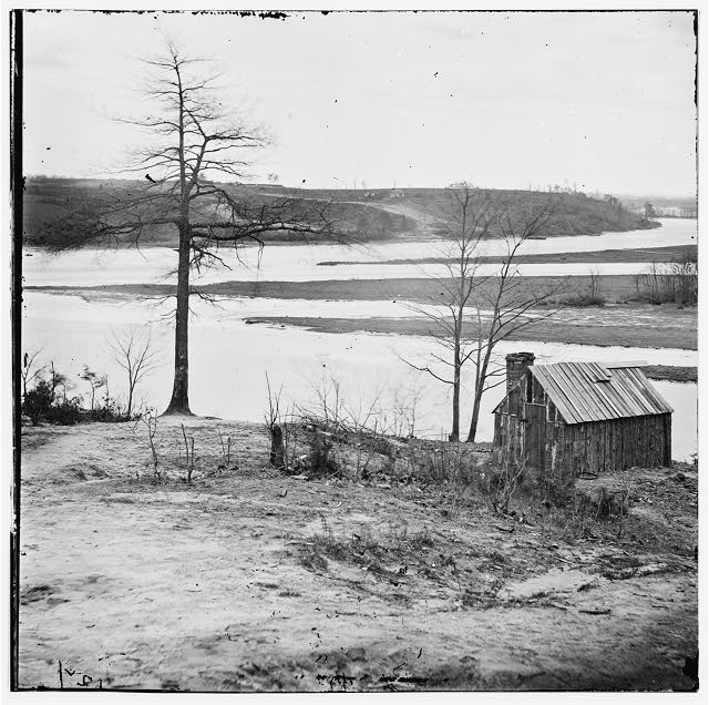 Petersburg, Virginia (vicinity). View of Appomattox River