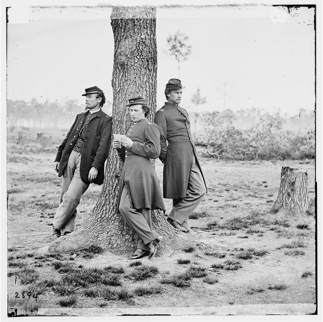 [Fort Brady, Va. Three officers of the 1st Connecticut Heavy Artillery]