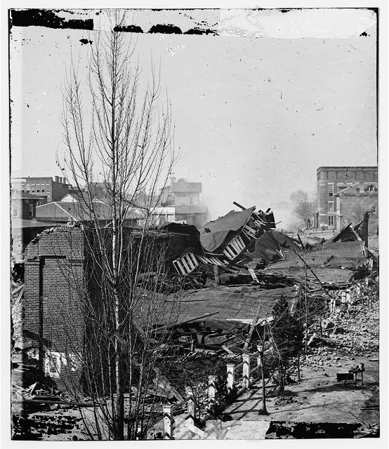 [Atlanta, Ga. Ruins of depot, blown up on Sherman's departure]