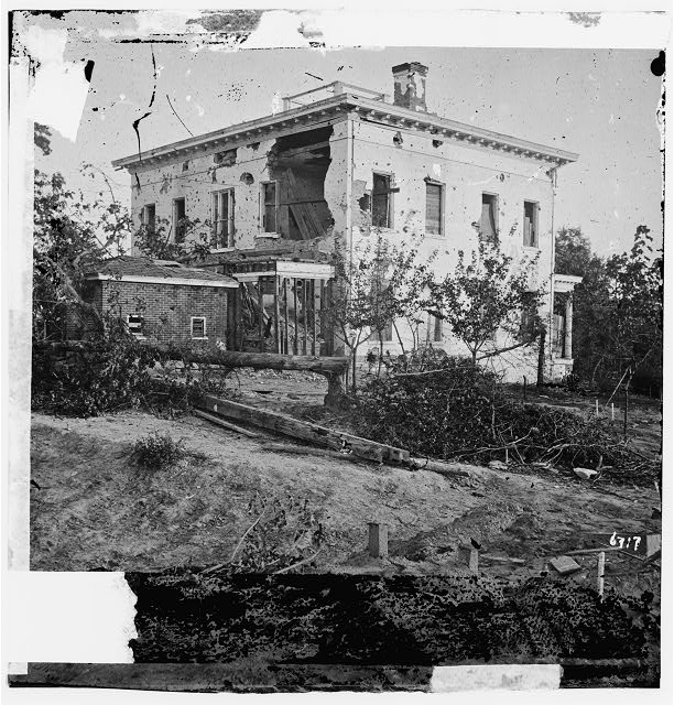 [Atlanta, Ga. The shell-damaged Ponder House]