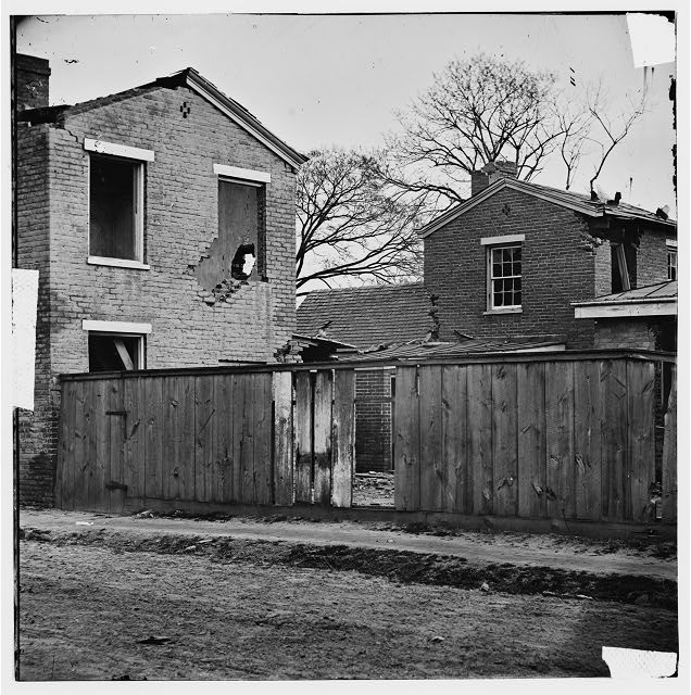 Petersburg, Virginia. Damaged houses