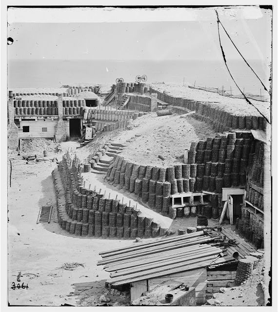 [Charleston, S.C. Interior of Fort Sumter with gabions; another view]