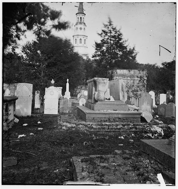 Charleston, South Carolina. Ruins of bombarded graveyard