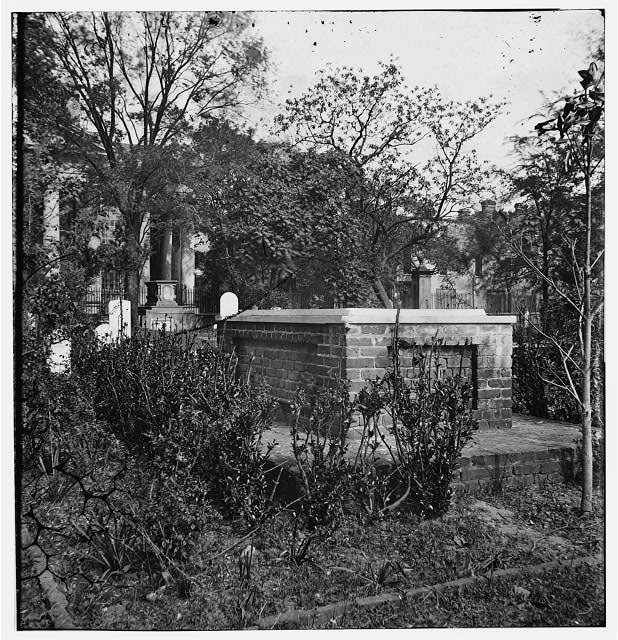 Charleston, South Carolina. Grave of John C. Calhoun in front of St. Philip's Church