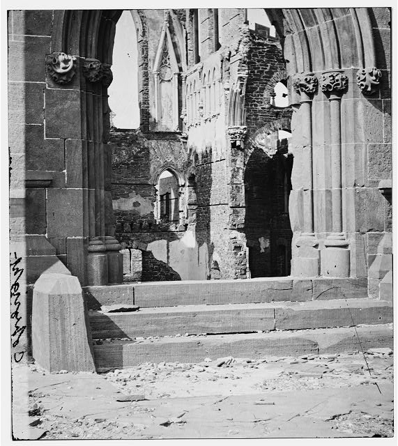 Charleston, South Carolina. Ruins of Cathedral of St. John and St. Finbar. (Interior view)