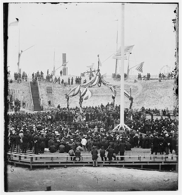 Charleston, South Carolina. Flag-raising ceremony at Fort Sumter