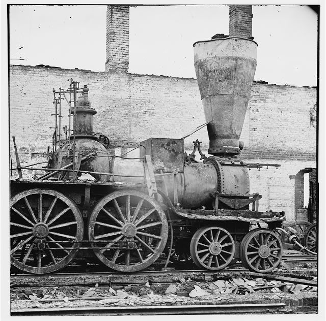 [Richmond, Va. Damaged locomotives]