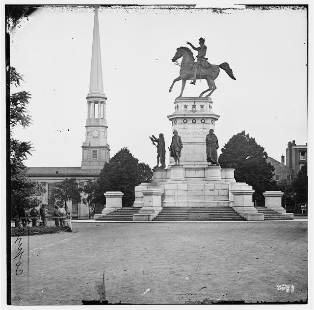 [Richmond, Va. Washington Monument; St. Paul's Church in left background]
