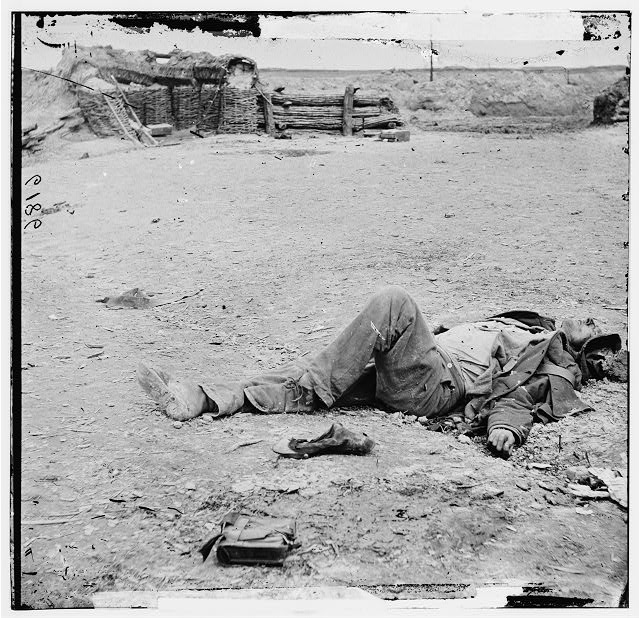 Petersburg, Virginia. Dead Confederate soldier