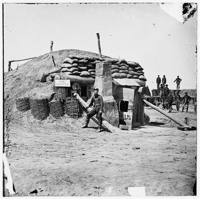 "[Petersburg, Va. Bomb-proof quarters, Fort Sedgwick (""Fort Hell"")]"