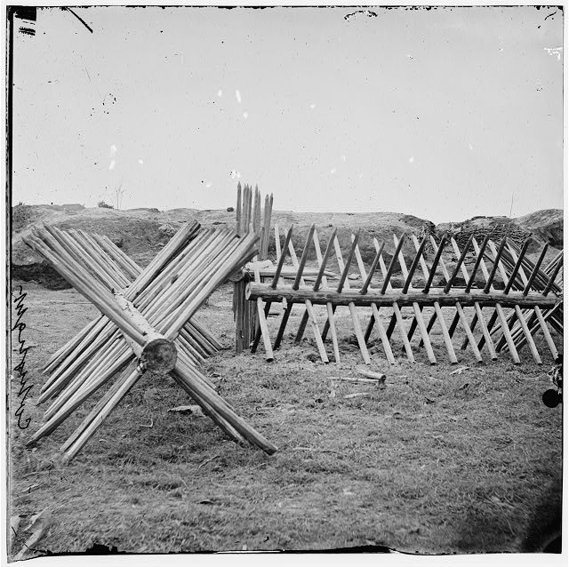 [Petersburg, Va. Sections of chevaux-de-frise before Confederate main works]