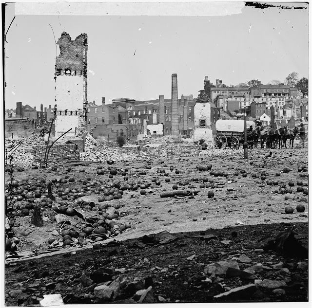 [Richmond, Va. Grounds of the ruined Arsenal with scattered shot and shell]