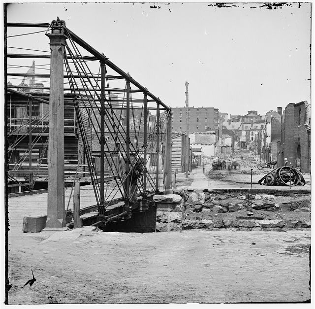 Richmond, Virginia. Ruins near Richmond & Danville depot