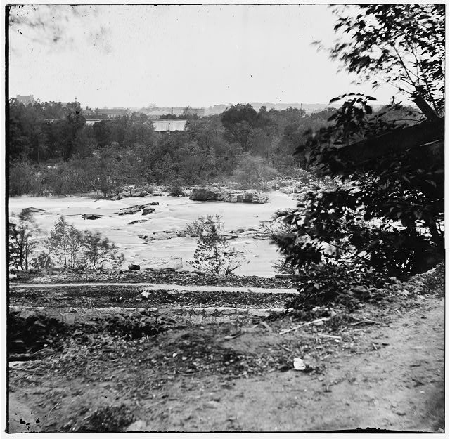 [View on the James River, looking toward Manchester, Richmond, VA.