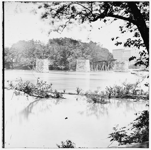 Richmond, Virginia. Ruins of Mayo's bridge