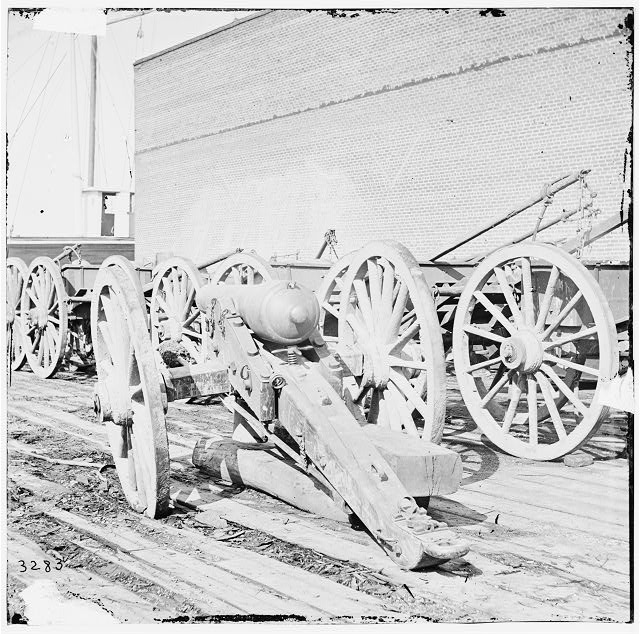 [Unknown location. Parrott gun]