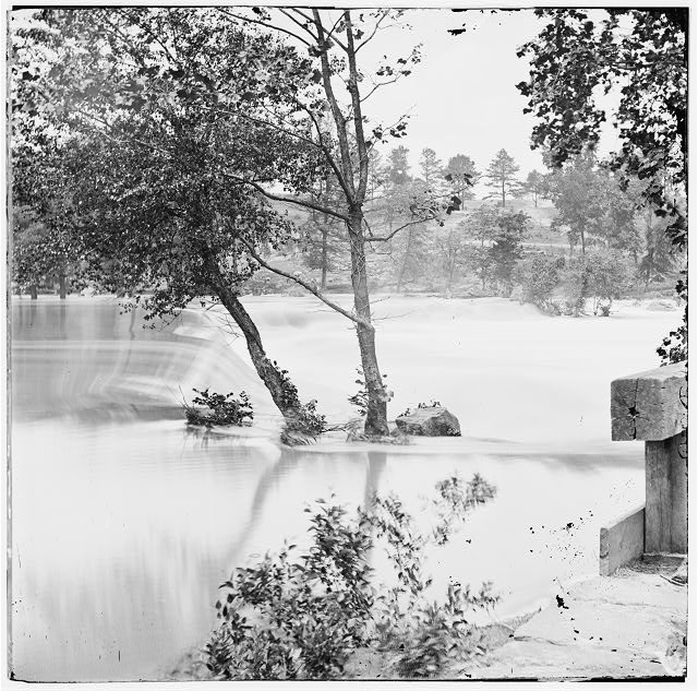 Petersburg, Virginia (vicinity). The freshet (Appomattox River) which delayed Grant's pursuit