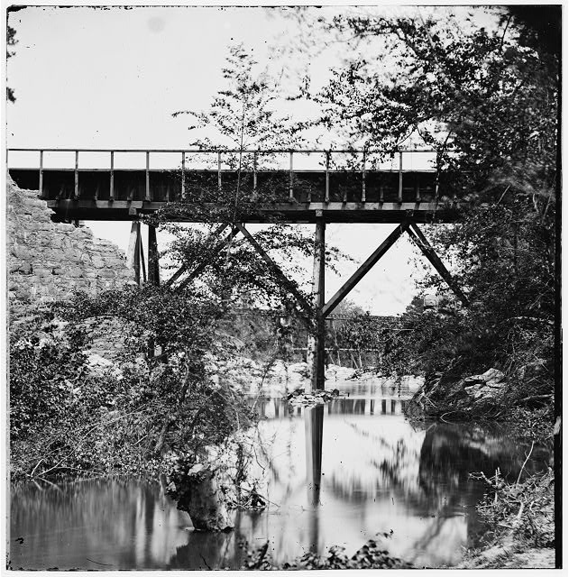 Petersburg, Virginia (vicinity). Footbridge across Old Town Creek