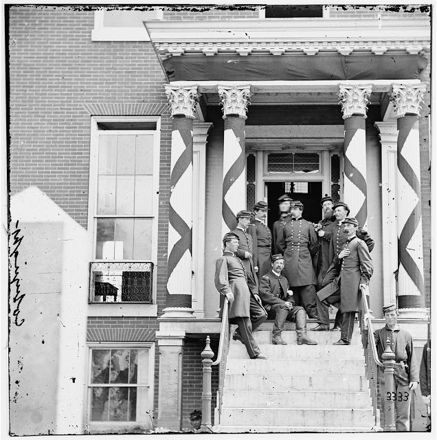 Petersburg, Virginia. Gen. Edward Ferrero and staff