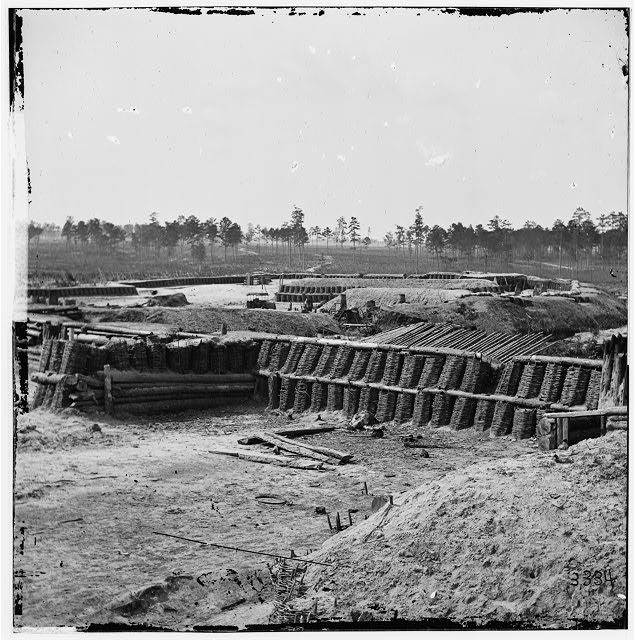 Petersburg, Virginia. Interior view of Fort Sedgwick