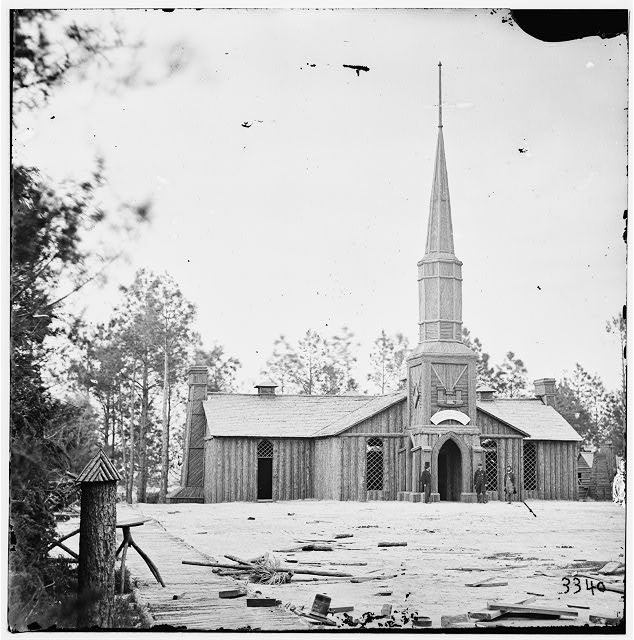 Petersburg, Virginia. Church built by 50th New York Engineers at Poplar Grove