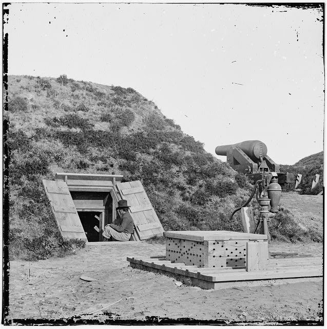 [Drewry's Bluff, Va. Interior of Fort Darling (Confederate) on the James]