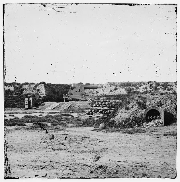 Drewry's Bluff, Virginia. Interior of Fort Darling. (Magazines, bomb-proof and shot & shell)