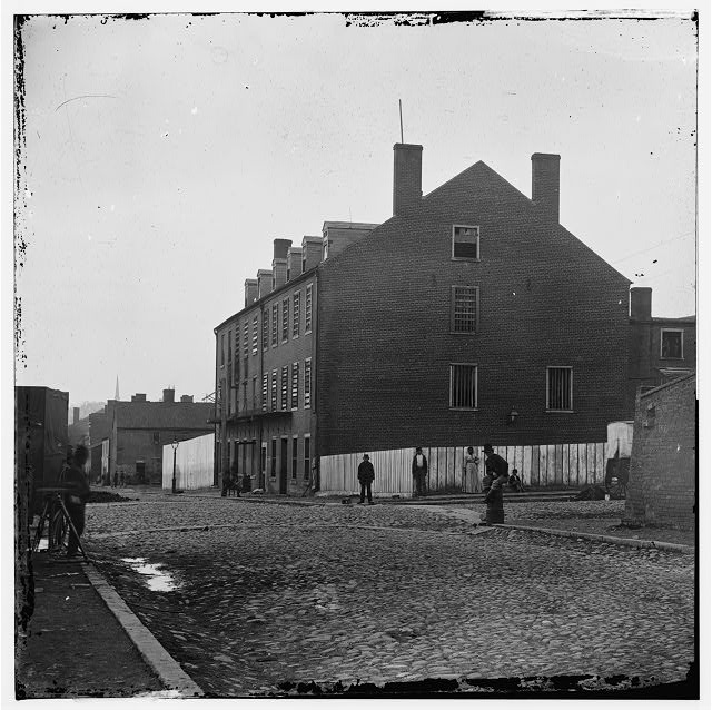 Richmond, Virginia. Castle Thunder. (Cary Street) (Converted tobacco warehouse for political prisoners)