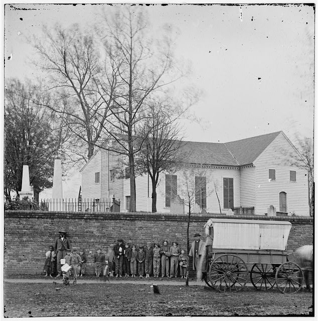 [Richmond, Va. St. John's Church and graveyard from street]